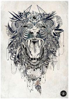Lion by Feline Zegers, via Behance