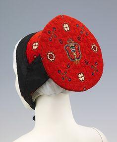Bonnet, late 19th century, German.