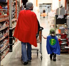 'I know a good dad when I see one' by ctvnews.ca : Taken in Toronto by the 3yo superhero's mom who made the cape for his birthday and then one for his dad per 'F's request!  #Kids #Dads