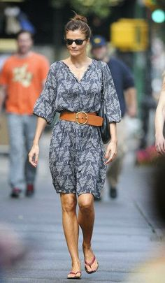 Perfect Summer Style With Belt And Shades