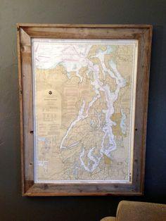 rustic frame, map, diy poster frame, picture frames, wood frames, poster frame diy, build your cabin