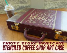 How to stencil an upcycled case for art supplies using FolkArt Multi-Surface paints #plaidcraft