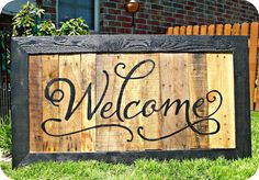 pallet boards, pallet designs, welcome signs, seed, hous, pallet signs, old pallets, front porches, pallet wood