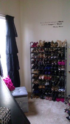 Ive Been Through a Million Shoe Racks & Finally Found This Amazing Rolling Shoe Rack I Ordered From Home Depot....Holds Over 50 Pairs....Love!!!