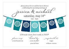 Lets Fiesta Blue Invitation