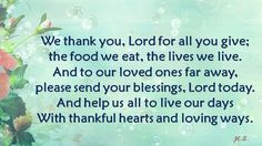We thank you....