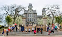 Hall of Languages during Commencement in the Spring (Photo by Cassie Dagostino '16)