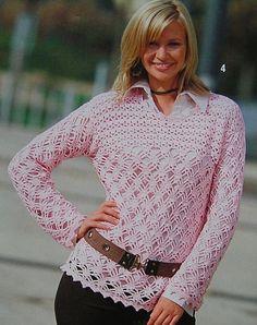 Powder Pink Tunic free crochet graph pattern