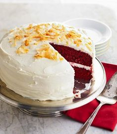 Fabulous Red Velvet Cake, truly holiday-special. More holiday desserts: http://www.midwestliving.com/food/holiday/30-best-holiday-dessert-recipes/page/16/0