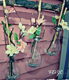 Light Bulb Vases. So pretty!  #earthday #cousincorp