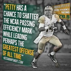 No quarterback in America is playing better than #Baylor's Bryce Petty. #Heisman #SicEm
