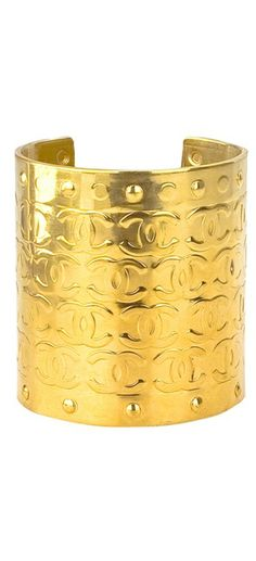 lovely Chanel gold cuff