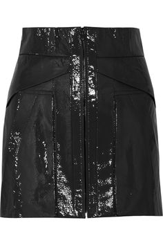 Patent-leather mini skirt by Alexander Wang