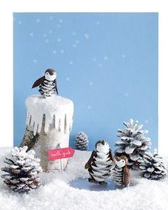 Handmade Christmas craft from pinecones photo.