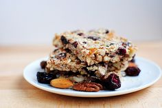 Homemade chewy cherry/almond granola bars... love!