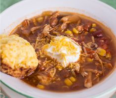 This slow-cooked chicken chili recipe is a hearty slow cooker chicken chili that you'll be craving after just one bite. Give this Super Slow Cooker Chicken Chili a try on a cold winter night, and warm up in no time.