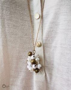 DIY Grappe pendant, DIY necklace