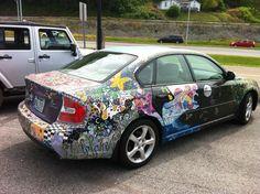 Artmobile-- even the cars are creative at Mountaineer Montessori School.