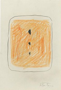 Lucio Fontana, Concetto Spaziale I, crayon and pencil on pierced paper, 1952-1953
