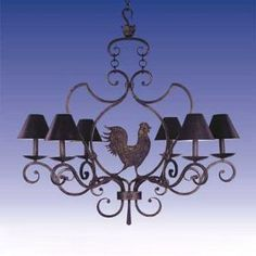 French country kitchen chandelier