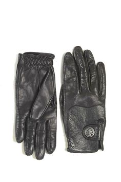 Gucci Equestrian Leather Gloves | Camille Styles