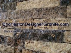 Charleston Designer Granite offers repurposed granite for decorative backsplashes, fireplaces, and accent walls