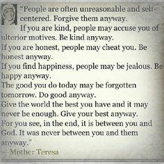 Mother Teresa ...good quote