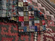 idea for a dolly's quilt made from wool scraps