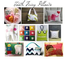Tooth Fairy Essentials - Pillows, Boxes & Dolls --> LOVE these, @Nicole Feliciano