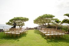 Maui wedding setup b