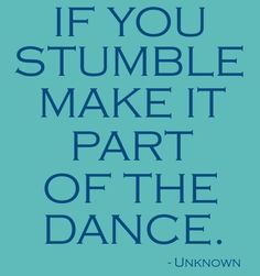 Make it a part of the dance