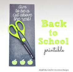 What an adorable back to school printable!  Could be used as a bookmark, too!