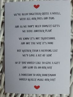 Wedding Poem  Money As A Gift  3 Different Poems by LolasLoveNotes, £7.00