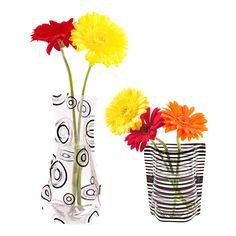 Foldable Vases Set of 2 Black II
