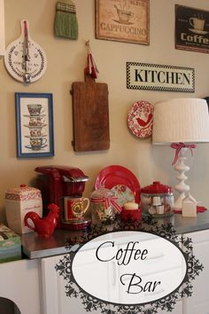 Coffee bar and kitchen signs (1) From: Cozy Little House, please visit