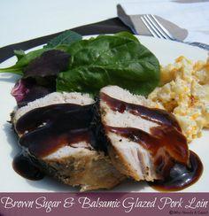 Brown Sugar & Balsamic Glazed Pork Loin - this is so good you have to pin! #crockpot #glazedpork #dinner