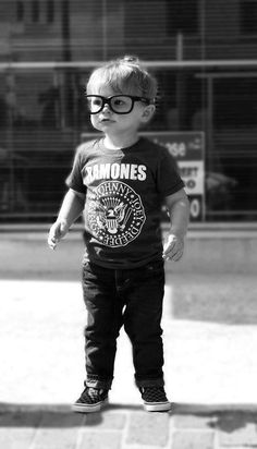 Adorable hipster kid!