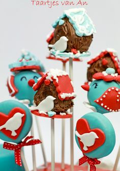 Little Bird House Cake Pops