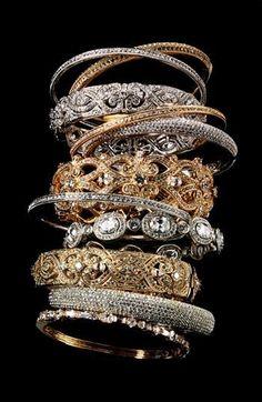 Shiny, stacked wrist.