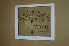 Vinyl on old window or backless frame from target