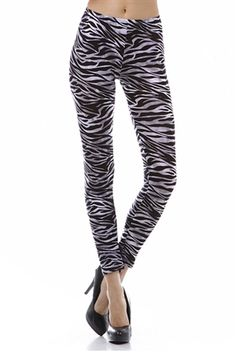 Zebra Leggings #worldofleggings #leggings #animalprint