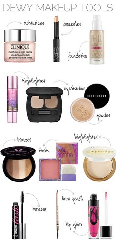 dewy makeup tools.