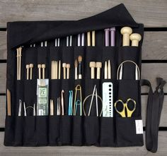 organizing knitting needles