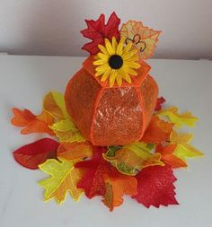 Pam's 3D Embroidered Fall Pumpkin