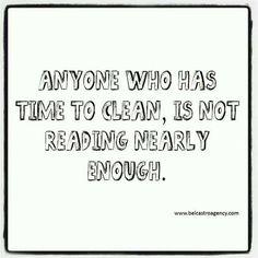 Clean less. Read mor