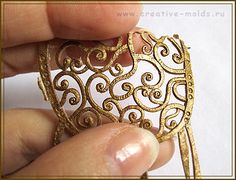 tutorial for filigree.... polym clay, polymer clay