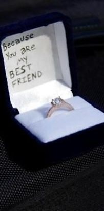 With a super simple and sweet message.   33  Awesome Marriage Proposals You Couldn't Say No To