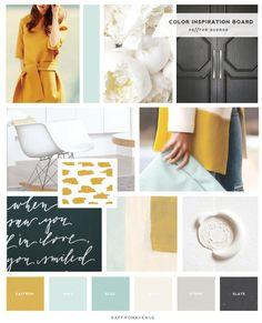 Great mood board | SaffronAvenue-ColorInspiration