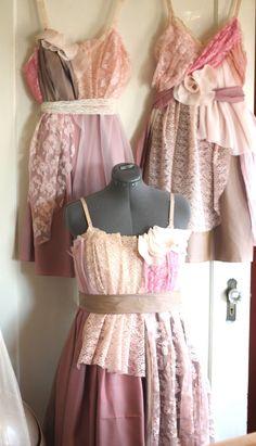 custom matching bridesmaides dresses