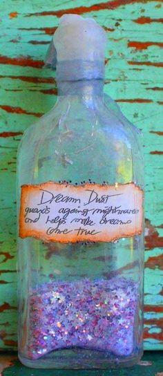 Altered bottle - fairy dust